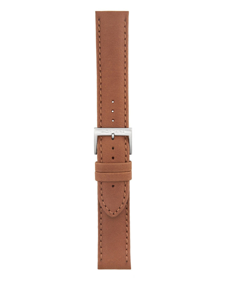 Helvetica No1 Bold Brown Leather Strap - Mondaine