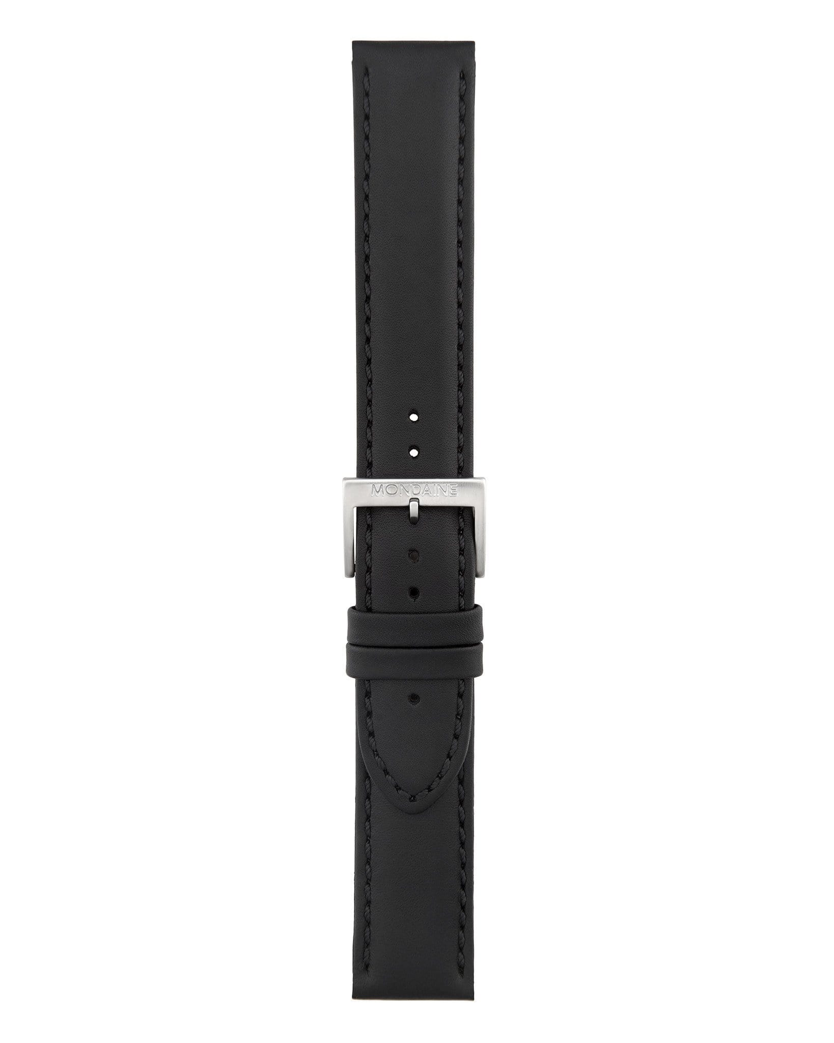 Helvetica No1 Bold Black Leather Strap