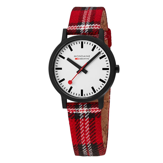 Essence Sustainable Materials Large Black Case Plaid