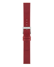 Red Leather Strap Polished - Mondaine