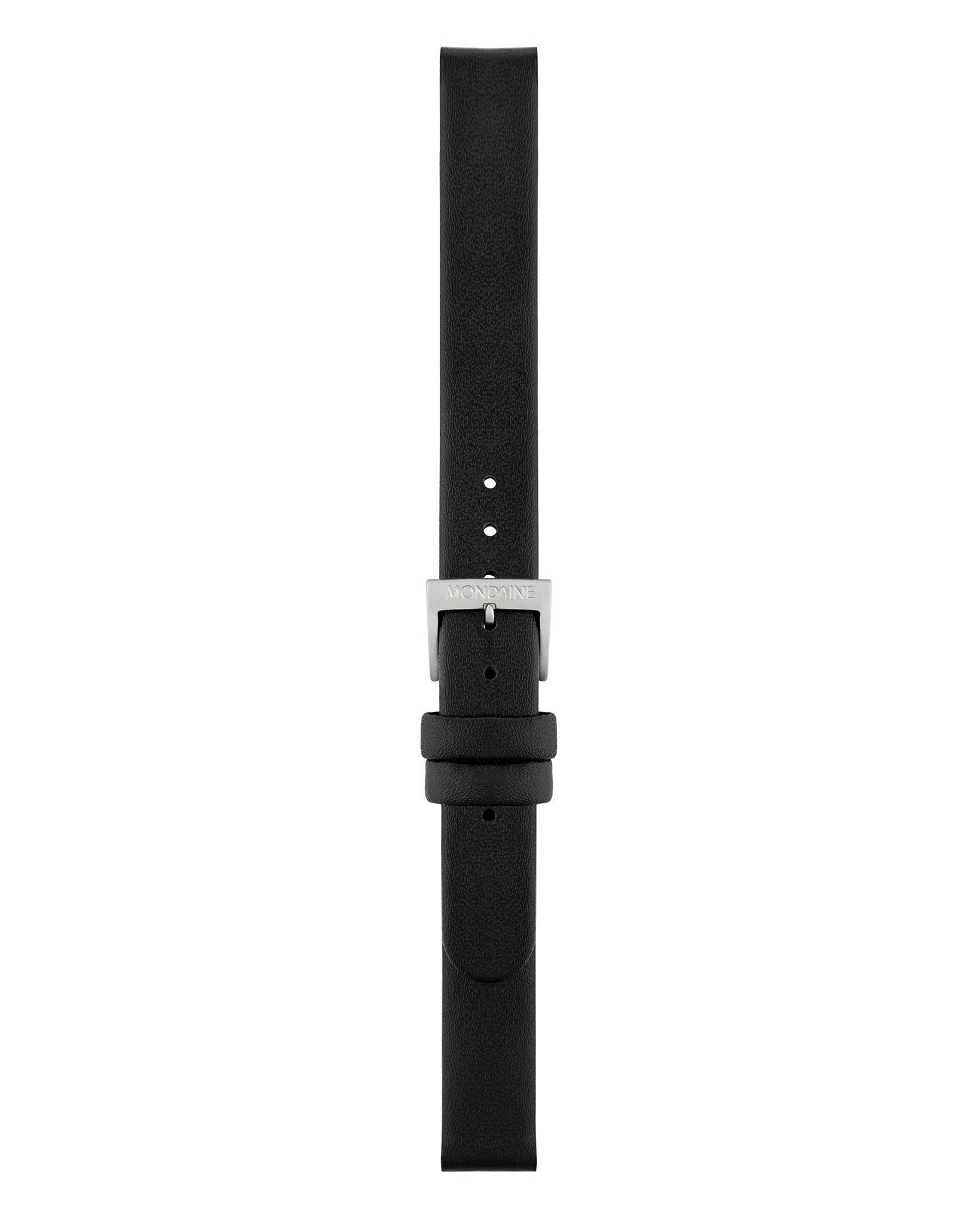 Black Leather Strap Polished