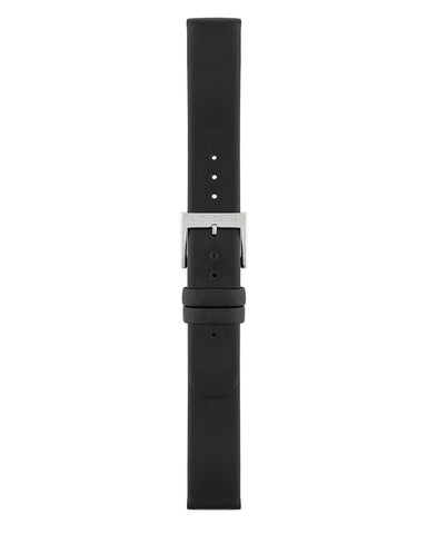 Extra Long Black Leather Strap Polished