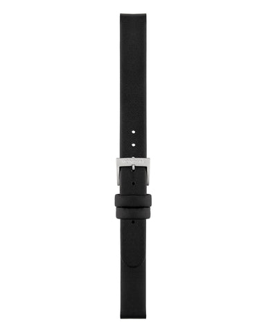 Black Leather Strap Brushed