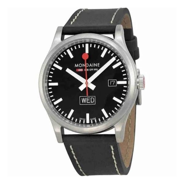 Official Swiss Railways Sport Day Date - Black