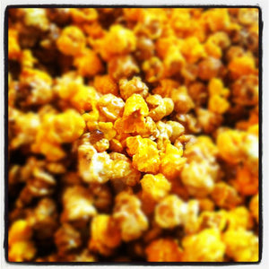 Popcorn from Smoking Goose. Carmel Bacon Cheddar