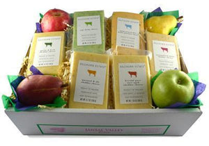 Cheese Gift Baskets with Fruits, Nuts, Salami
