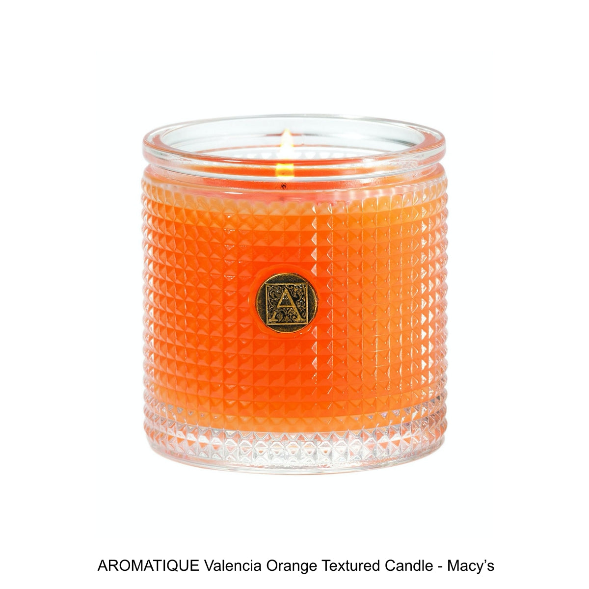 AROMATIQUE Valencia Orange Textured Candle - Macy's