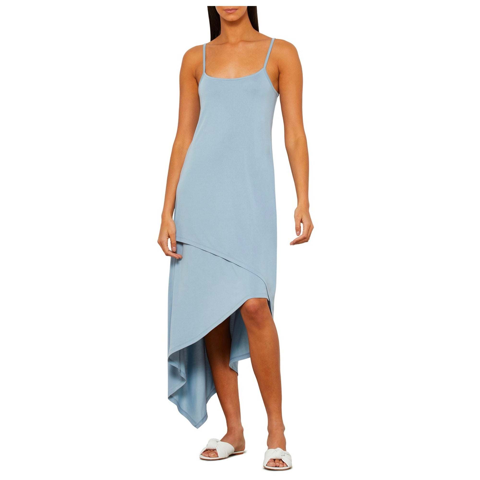 BCBGMAXAZRIA Asymmetrical Slip Dress - Macy's