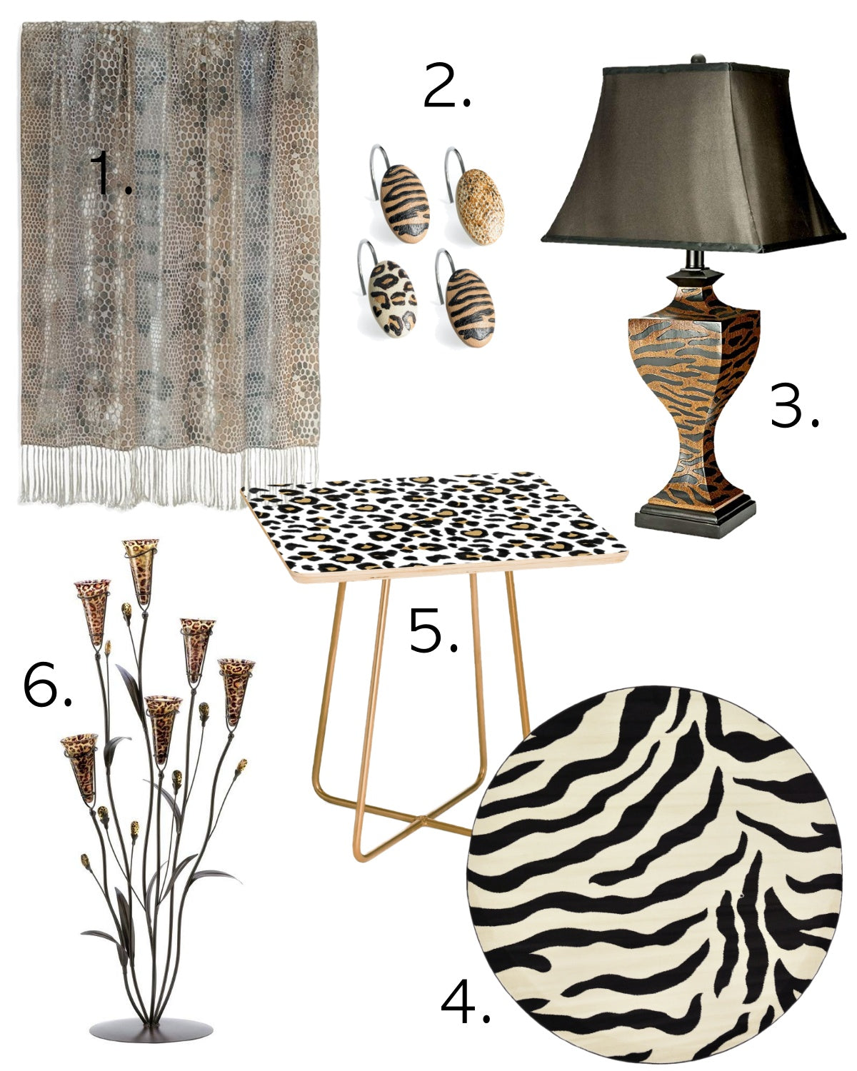 Animal Print Product Board - The Color Lab Blog