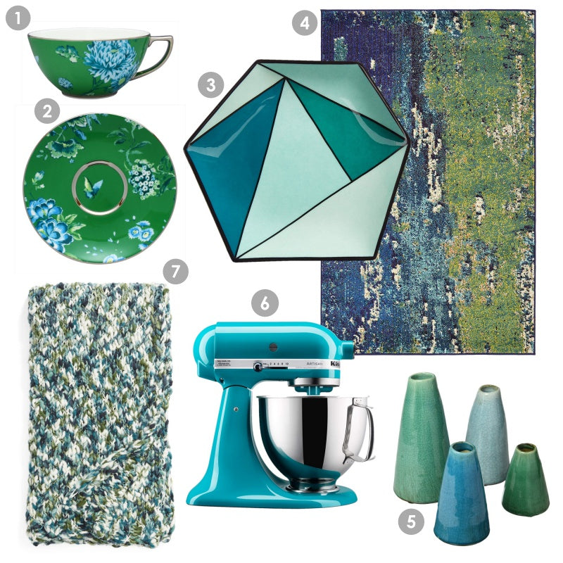 Fab Finds for the Home - Caneel Bay Blue and Sea Green