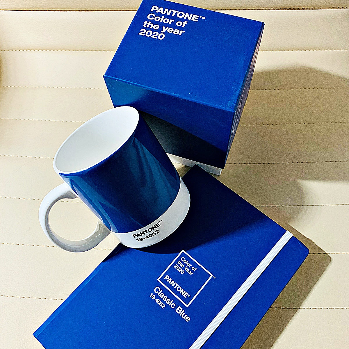 Pantone Color of the Year 2020 - Classic Blue - Cup and Notebook