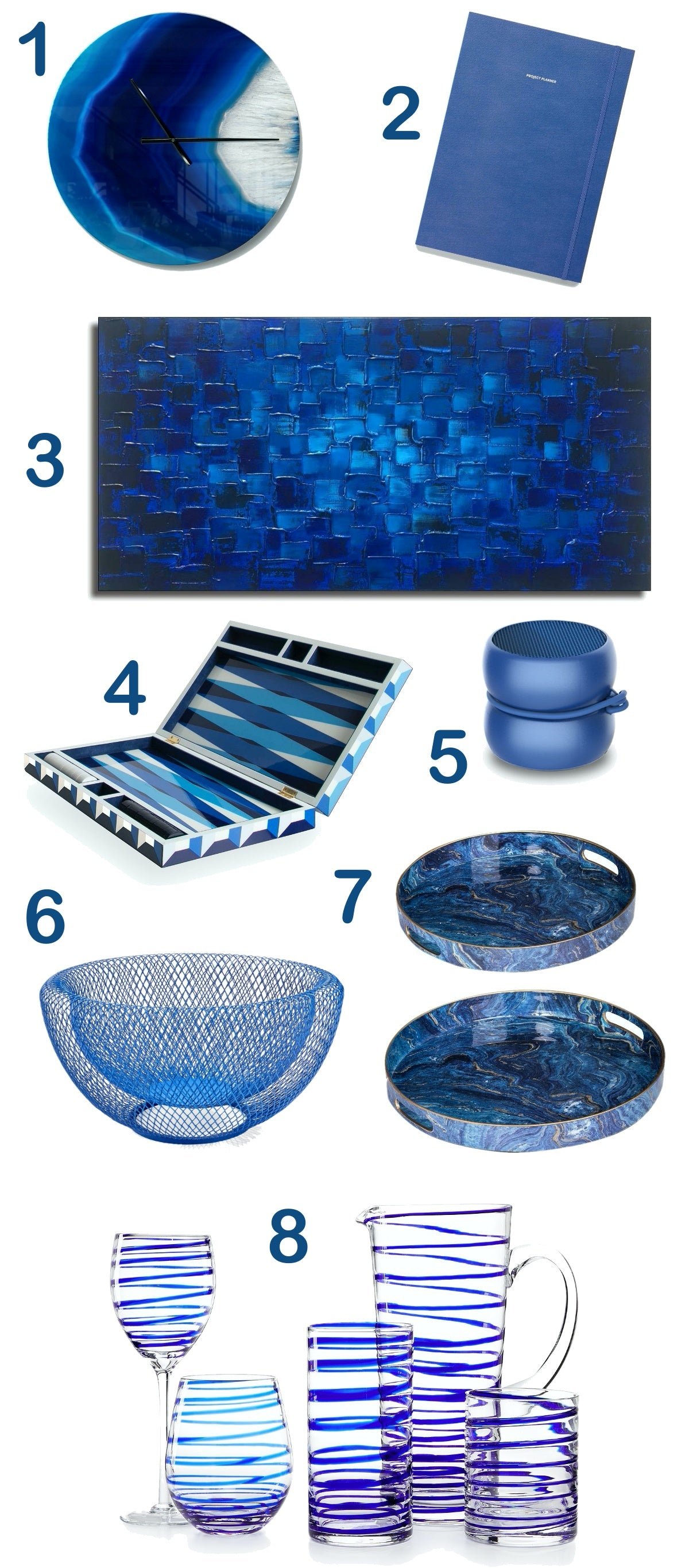 Color Craze Holiday Gift Guide - Pantone's Color of the Year 2020 - Classic Blue