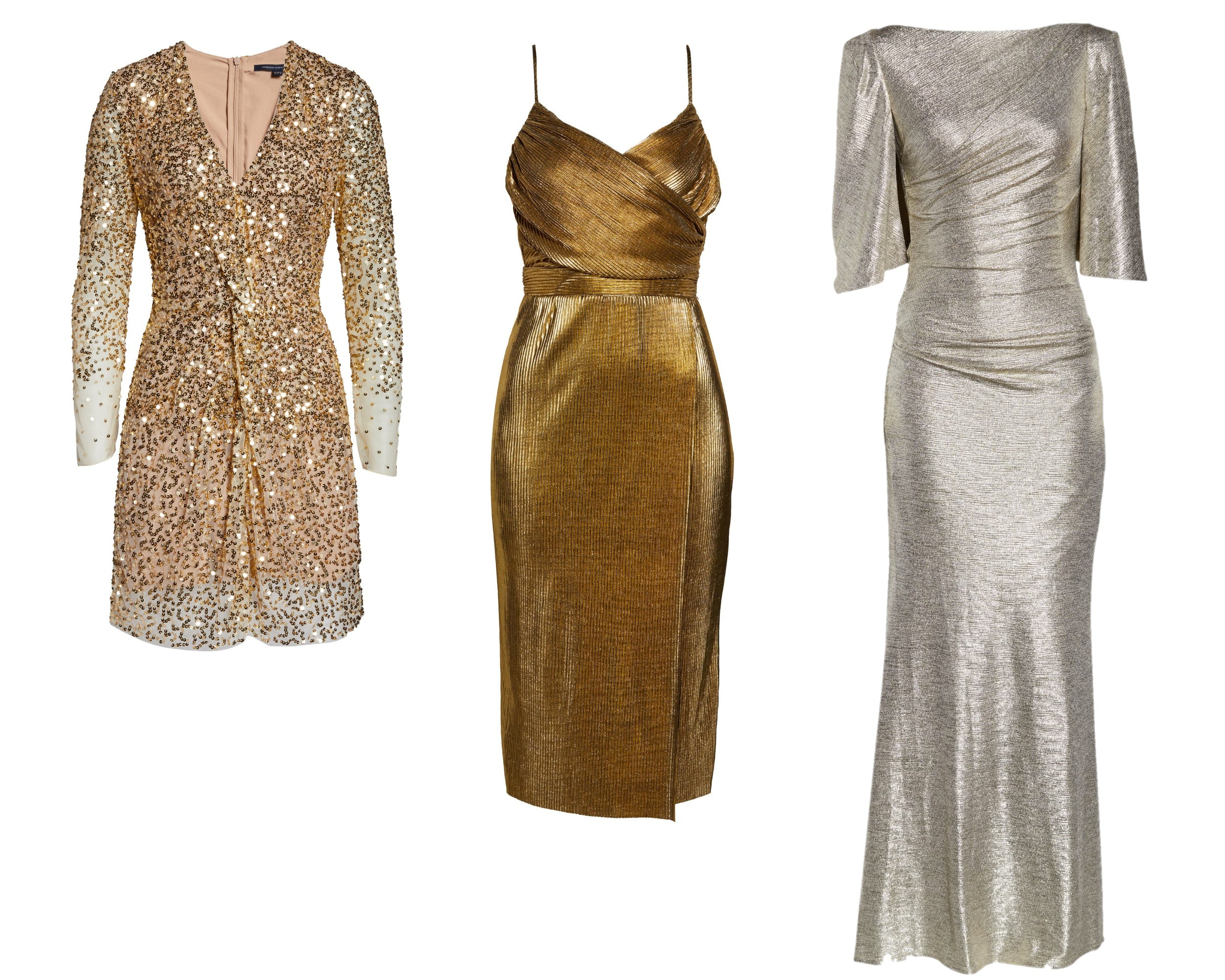 Metallic Gold Dresses from Nordstrom