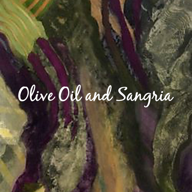 Color Craze: Olive Oil and Sangria - Painting by Unknown Artist