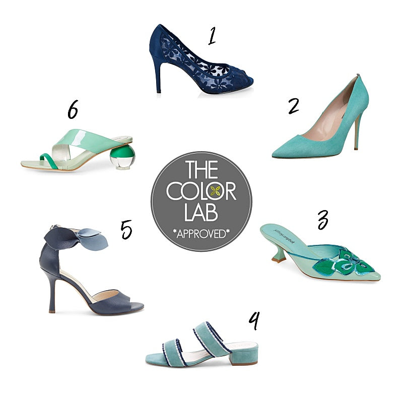Color Craze - Opal and Moroccan Blue - Shoes