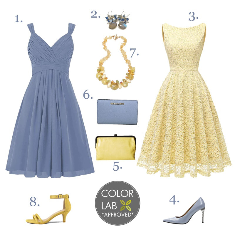 Color Craze - Placid Blue and Yellow Pear - Style Board