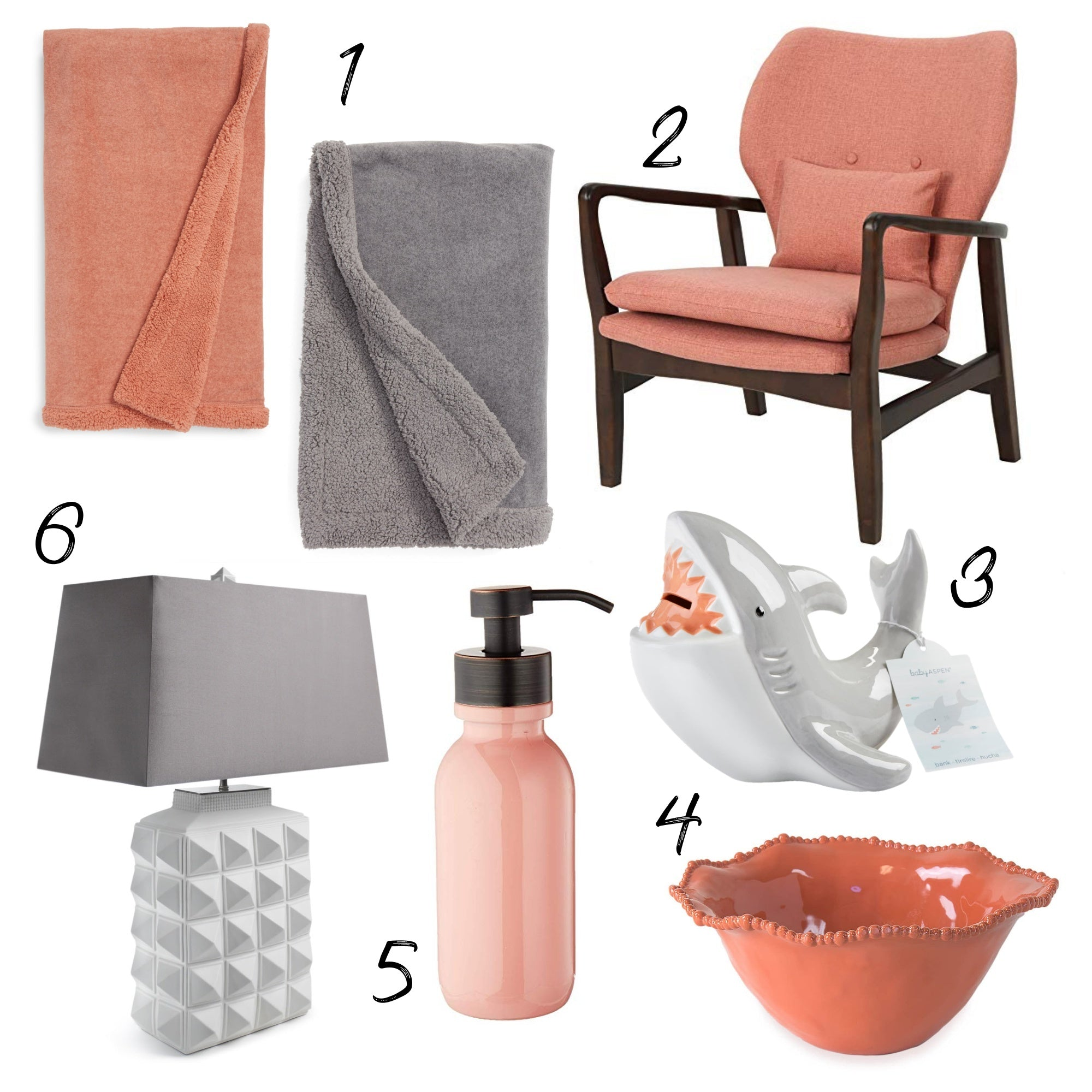 Color Craze: Salmon and Glacier Gray Product Board