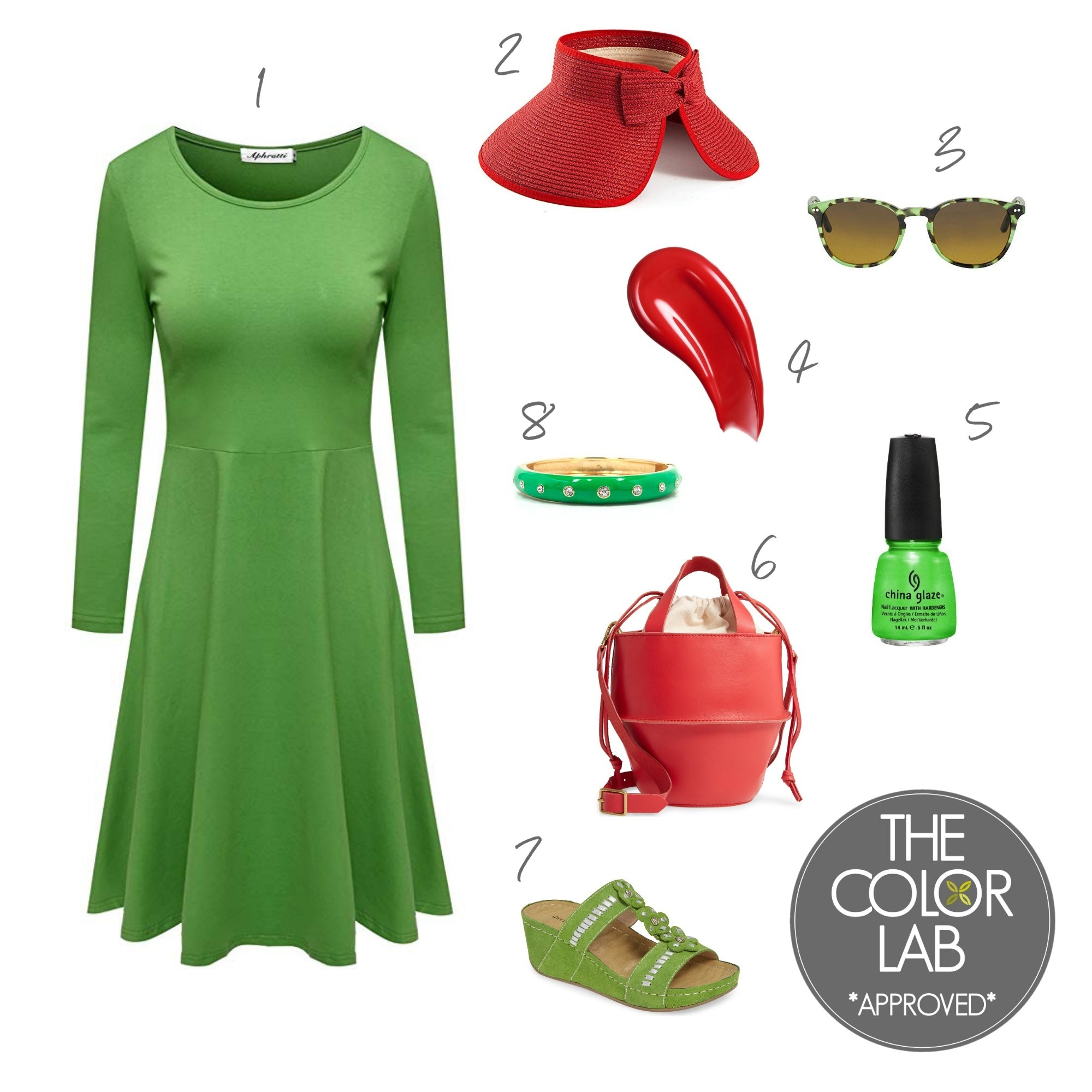 Tomato and Jasmine Green - Style Board | The Color Lab Blog