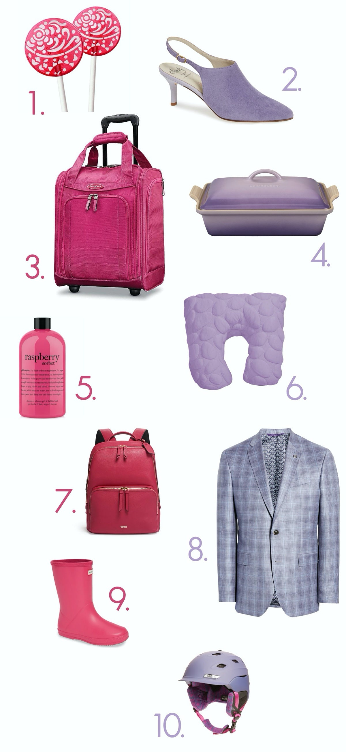 Color Craze Holiday Gift Guide - Raspberry Sorbet and Purple Rose