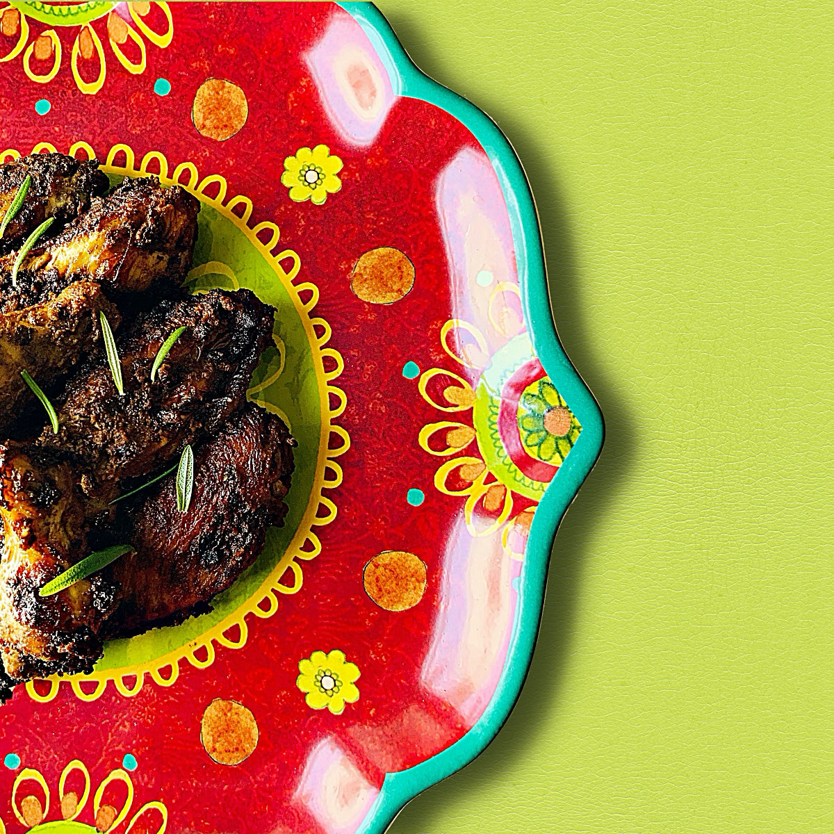 Colorful Eats: Jumpin' Jerk Chicken Wings | The Color Lab Blog