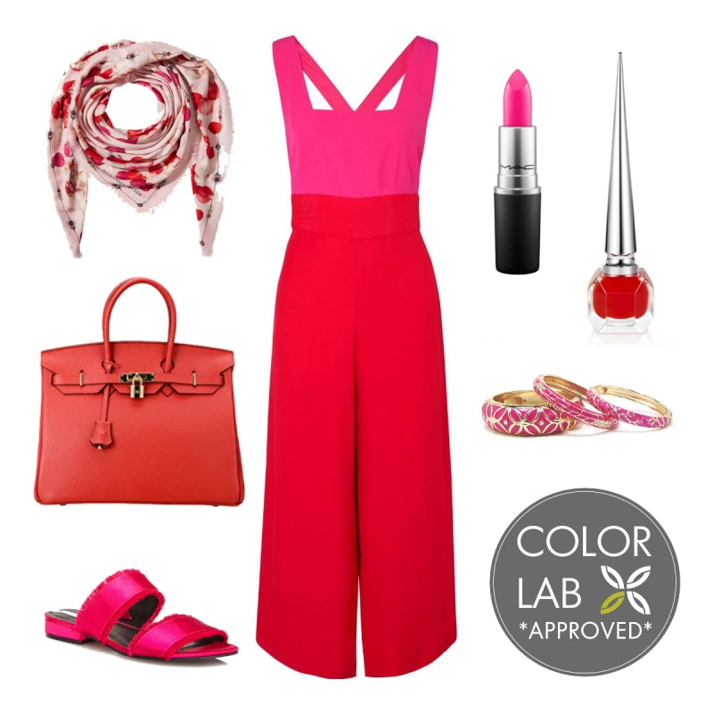 Fuchsia and Red Style Board