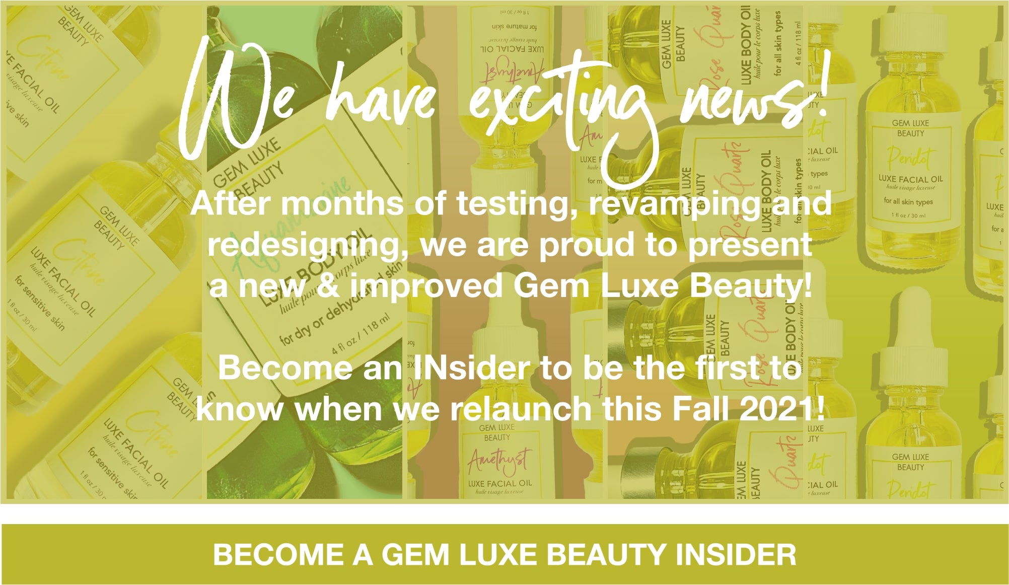 We Have Exciting News! Gem Luxe Beauty Relaunch Fall 2021