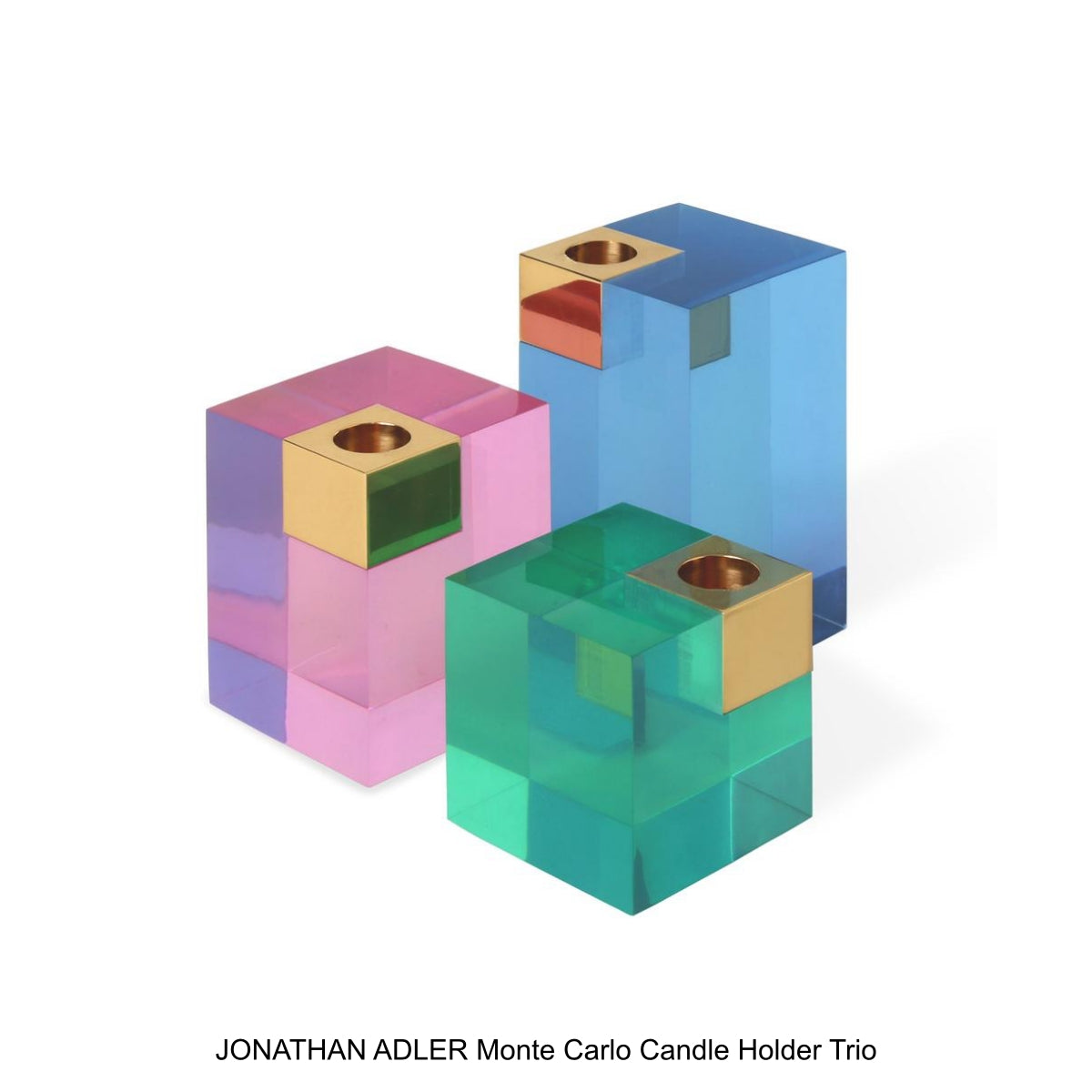 JONATHAN ADLER Monte Carlo Candle Holder Trio