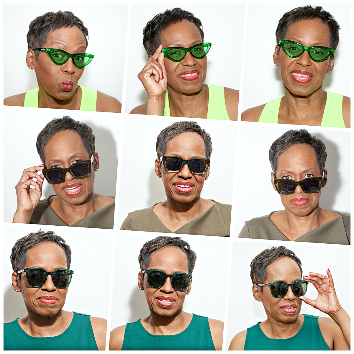 Juliet Shades of Green Collage
