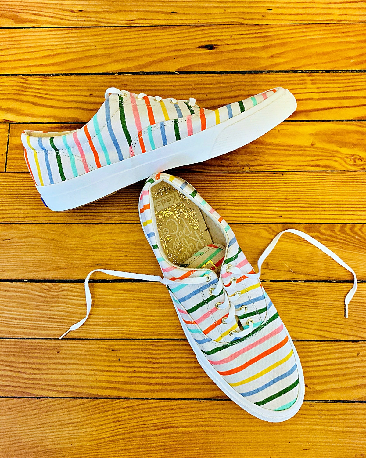 Keds x Rifle Paper Co. Anchor Happy Stripe Sneakers