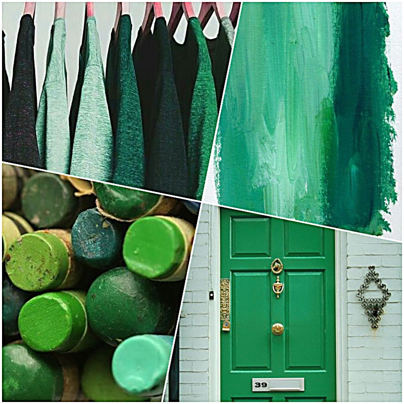 Kelly Green & Mint Color Board