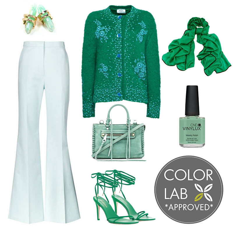 Kelly Green & Mint Style Board