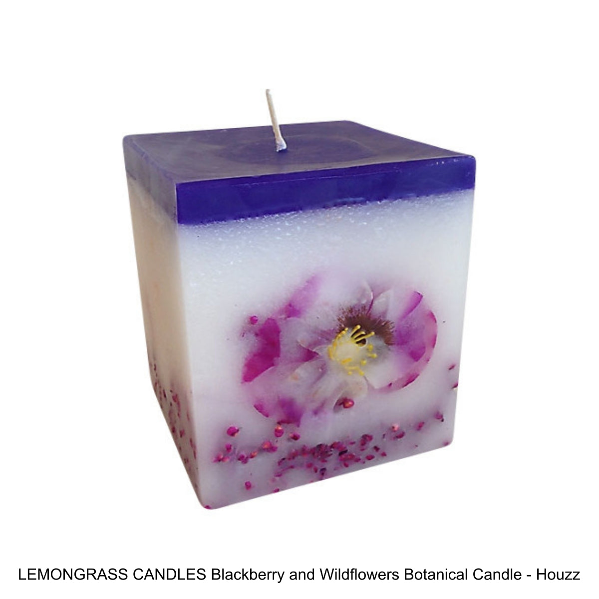 LEMONGRASS CANDLES Blackberry and Wildflowers Botanical Candle - Houzz
