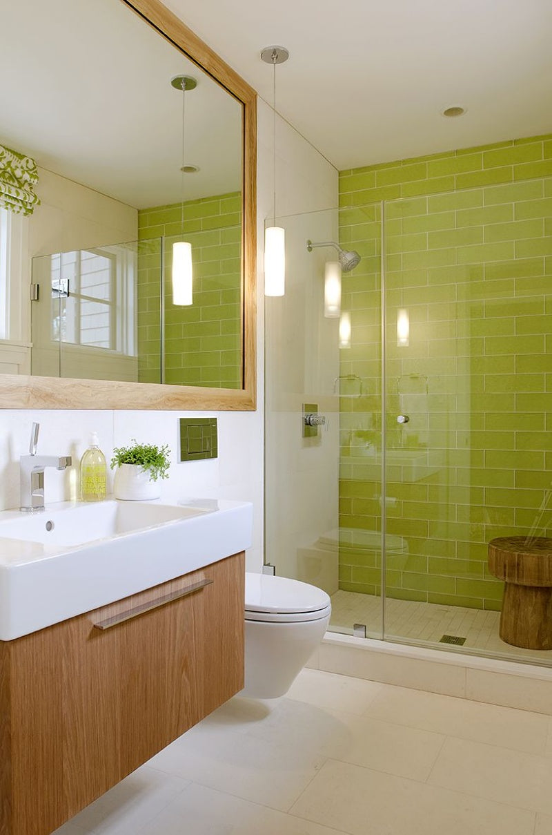 Energy Green Bathroom - Elle Decor