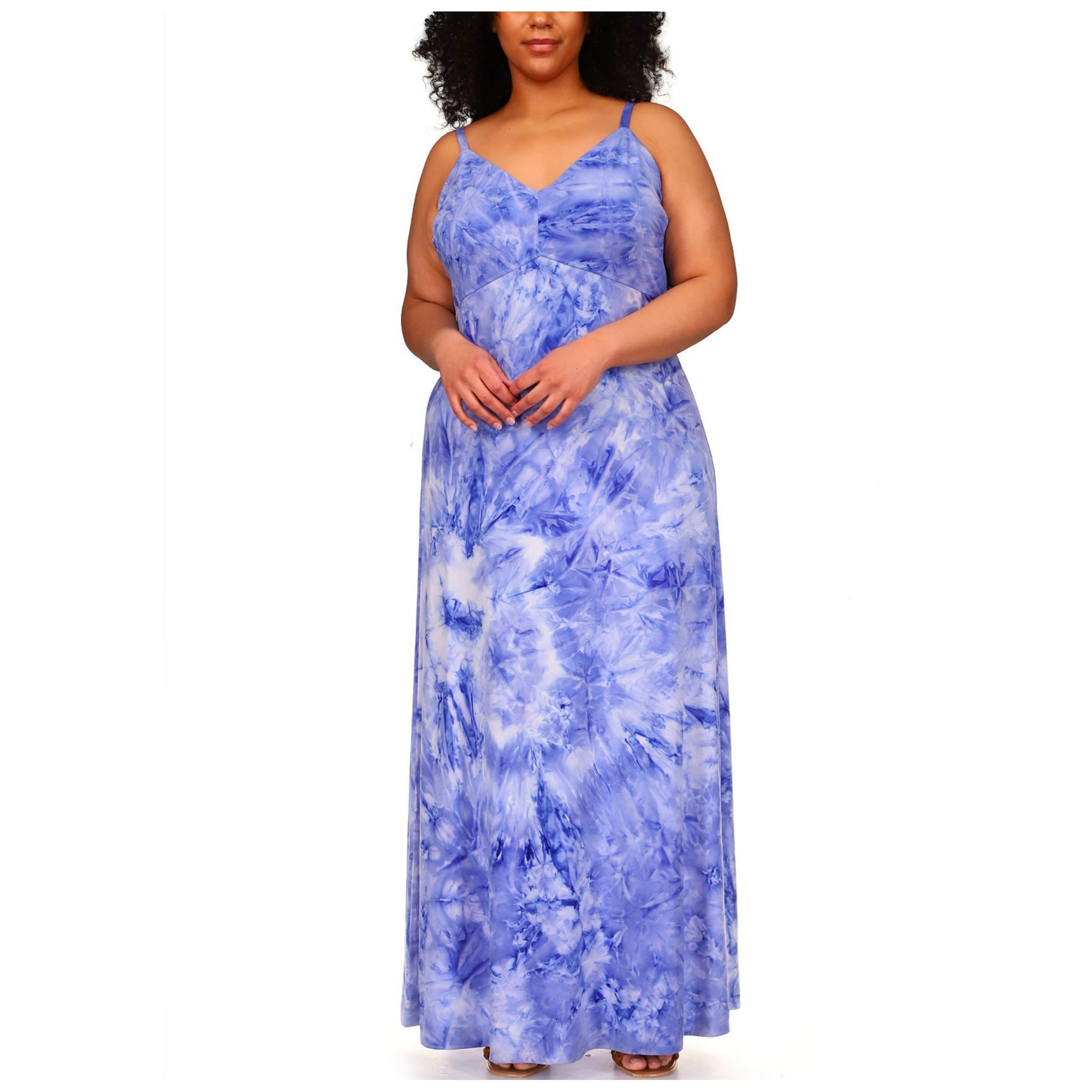 MICHAEL MICHAEL KORS Tie-Dyed Maxi Slip Dress - Macy's