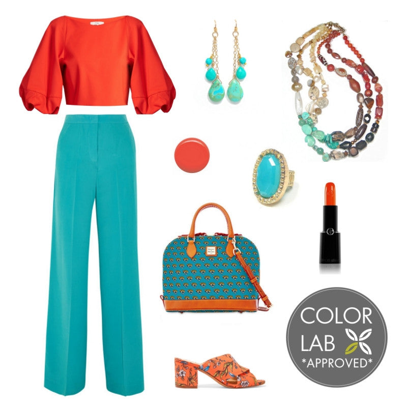 Orange and Turquoise Style Board