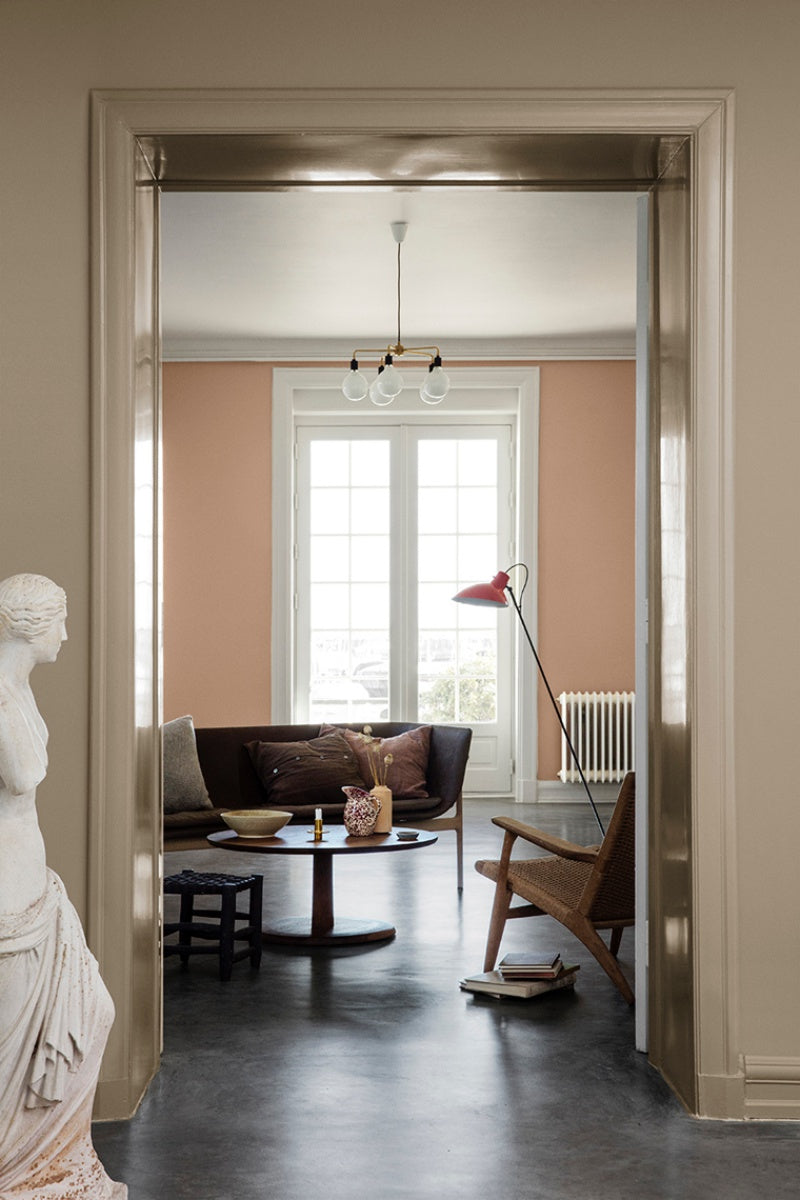 Living Room in Jotun LADY paint colors LADY 10966 Almond Beige and LADY 20047 Blushing Peach