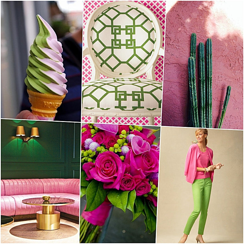 Pinks and Greens Mood Board
