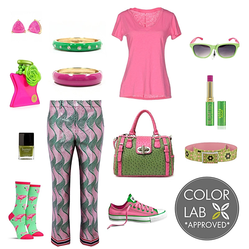 Pinks and Greens Style Board