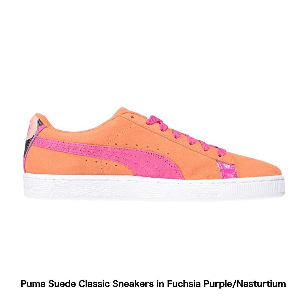 Puma Suede Classic Sneakers in Fuchsia Purple/Nasturtium - Amazon