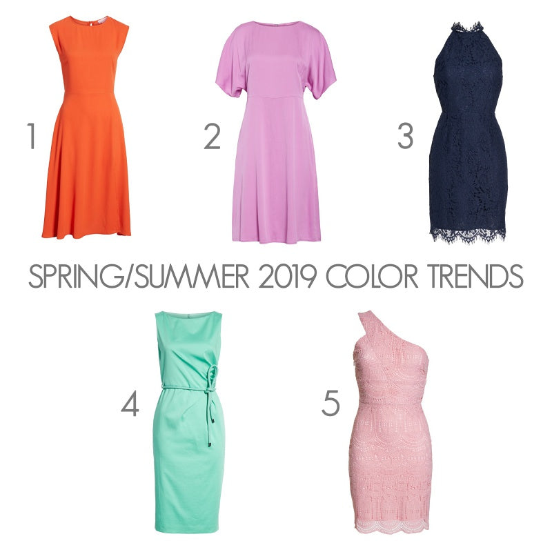 Spring/Summer 2019 Color Trends - Dresses from Nordstrom