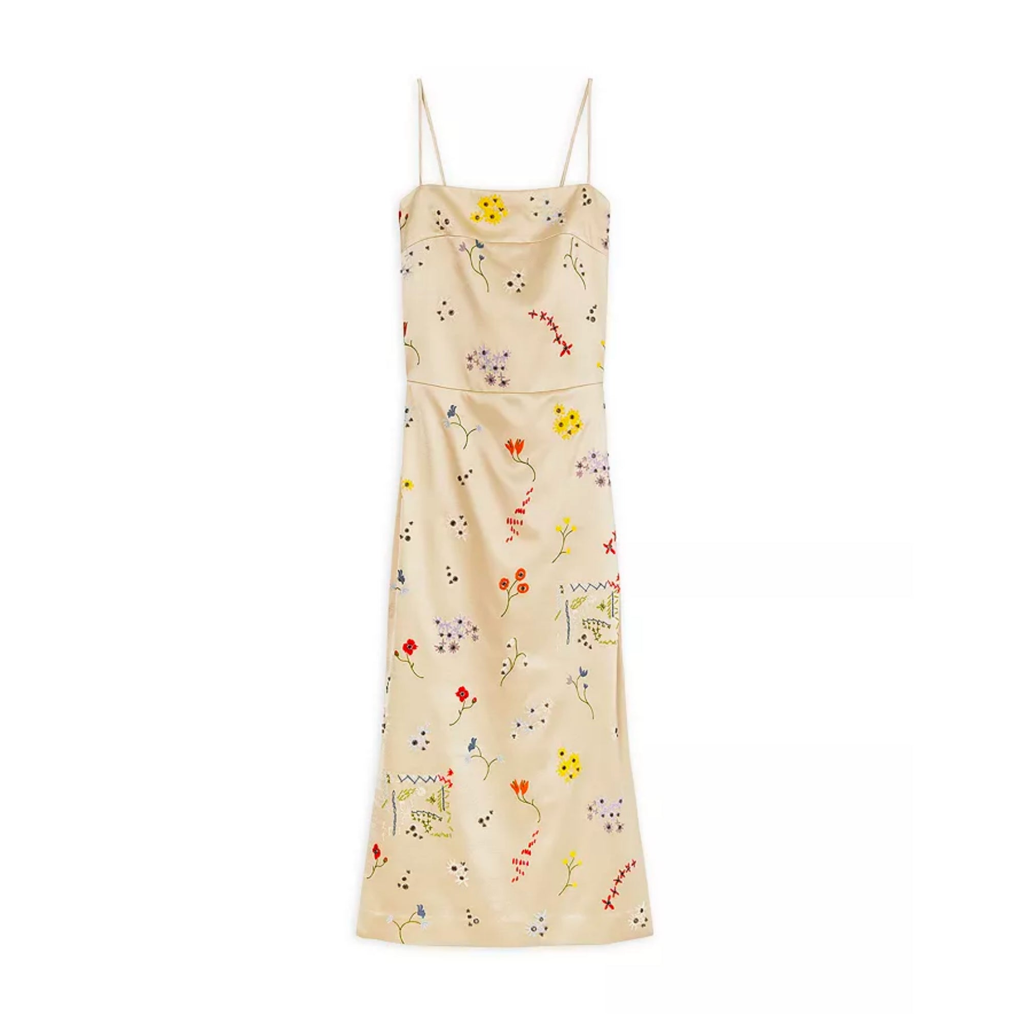 TORY BURCH Embroidered Sheath Midi Dress