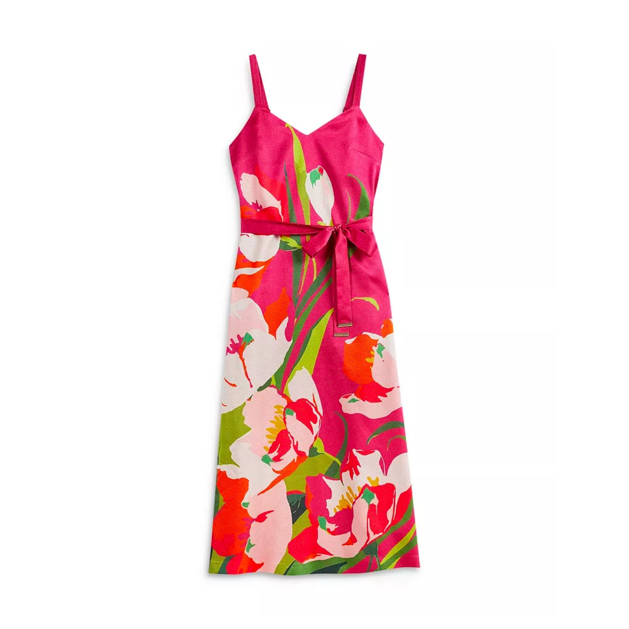 TED BAKER Printed Midi Slip Dress