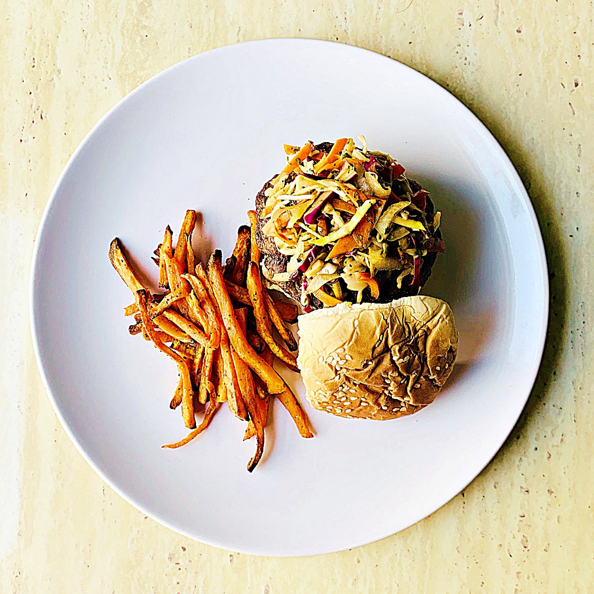 Turkey Burgers with Asian Slaw