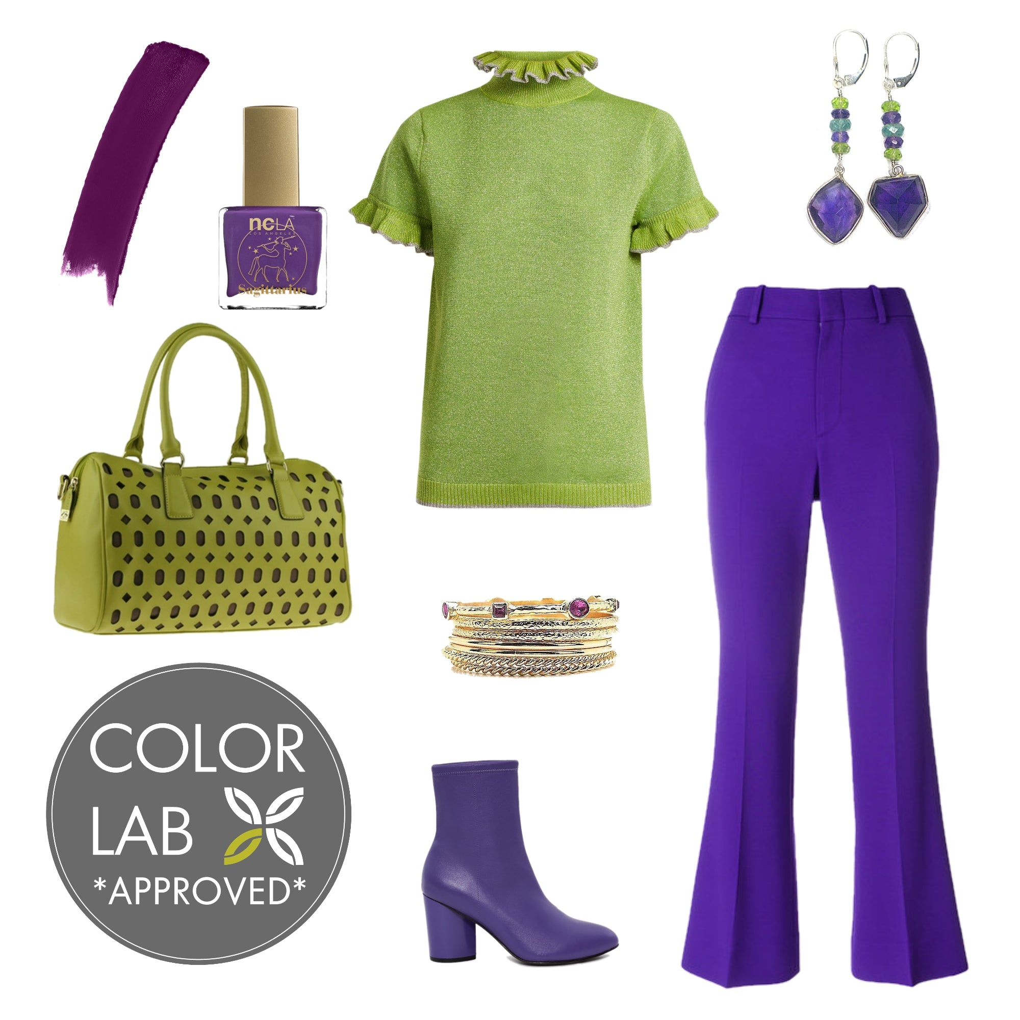 Ultra Violet & Lime Punch Style Board