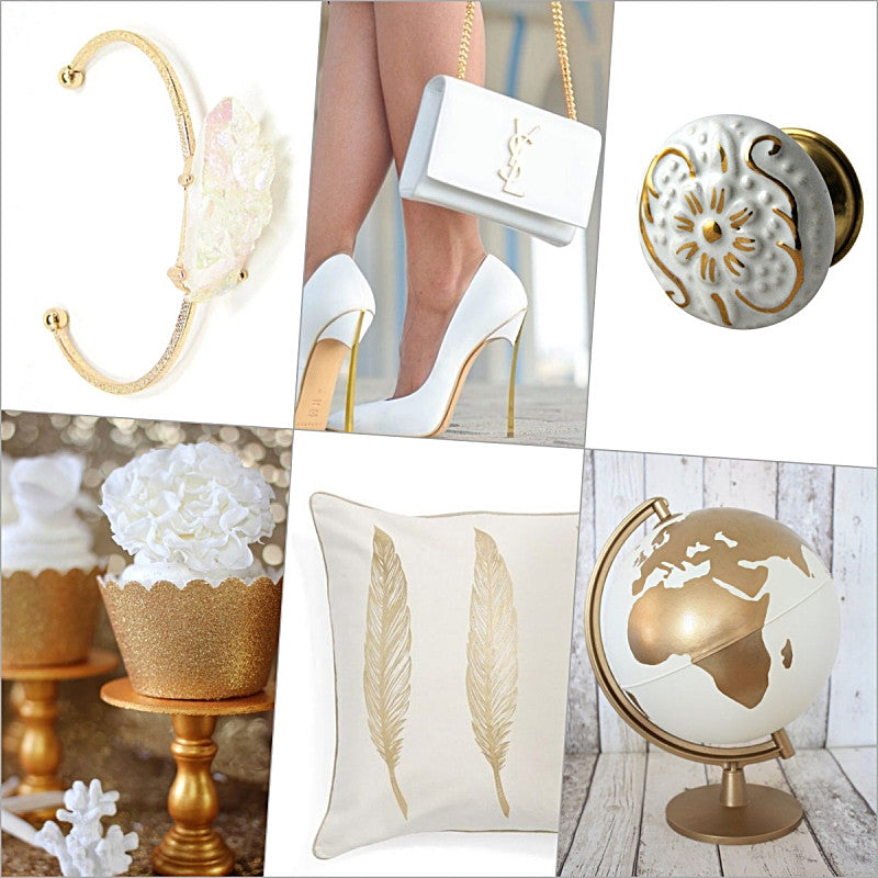 White and Gold on Pinterest