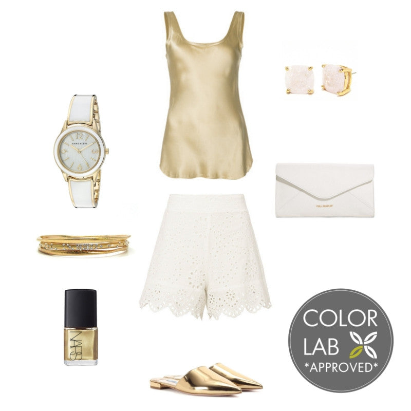 White and Gold Style Board