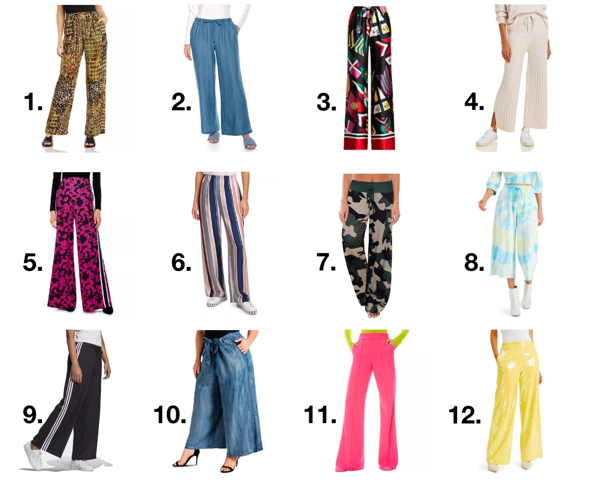 Wide Leg Pants Product Board | The Color Lab Blog