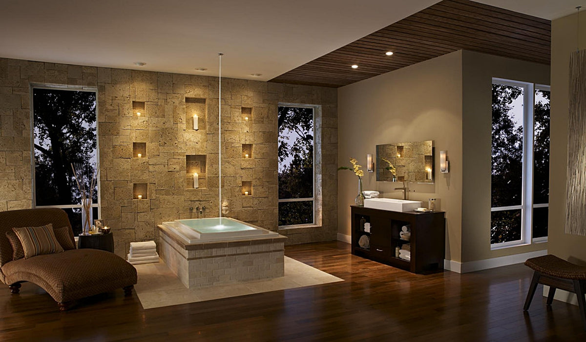 Zen Bathtub Candle Wall - Houzz