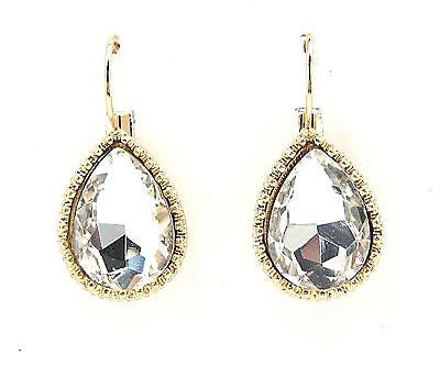 Vedia Teardrop Earrings in Clear
