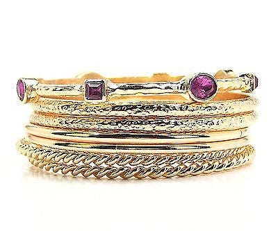 Sasha Bangle Bracelets in Purple